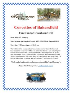 Fun Run to Greenhorn Grill @ Lino's Greenhorn Grill | Wofford Heights | California | United States
