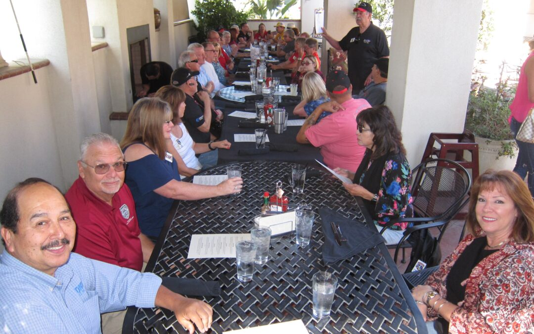 Brunch of Corvettes at the Crest RV Resort 2019